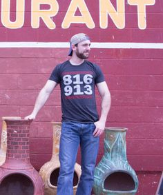 """816 / 913"" Kansas City Shirt by www.kcbravery.com"