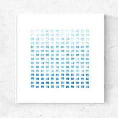 Minimalist blue watercolor art print, downloadable art, modern watercolor painting, 24x24 print, printable wall art, blue art, modern print by DYAStudio on Etsy https://www.etsy.com/listing/513415407/minimalist-blue-watercolor-art-print