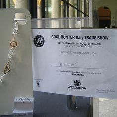 "Se.Ma..Vì   prized as ""best fashion designer"" by Assomoda  @ Cool Hunter Italy Trade Show  February  2013"