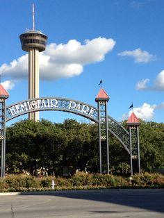 "San Antonio, Tx. 1968 Hemisphere World's Fair.  Tower of the America's"""