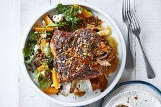 Slow-roasted lamb with orange salad