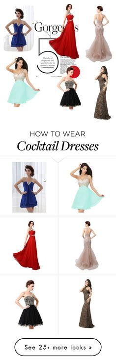 """""""Gorgeous in evening party-at Jollychic"""" by chloe1013 on Polyvore featuring jollychic"""