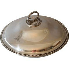 Antique English Sterling Silver Serving Entree Dish Richard Sibley - Antique English Sterling Silver Serving Entree Dish Richard Sibley