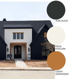 Modern Farmhouse Style Exterior Paint Colors Paint your home's exterior with confidance with these modern farmhouse exterior paint color combinations. Perfect for new build construction or renovations! Exterior Paint Color Combinations, Exterior Paint Colors, Exterior House Colors, Paint Colors For Home, Exterior Design, Exterior Color Schemes, Black House Exterior, House Paint Exterior, Wall Exterior