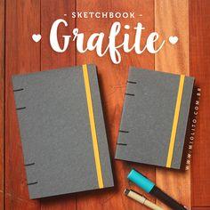Sketchbook Grafite para artistas e pessoas criativas <3 por: @miolitocadernos