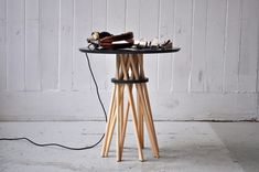 Bundle Side Table by Ampersand in home furnishings  Category