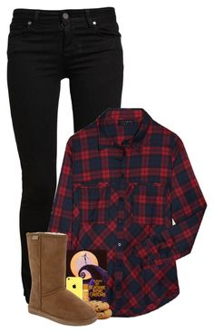 """""""Squad Saturday: Movie Night Together"""" by comickid101 ❤ liked on Polyvore featuring Paige Denim, Alygne, Burt's Bees and Bearpaw"""
