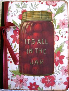 Retro Cherry Jar Notebook Recipe Cookbook by SewMaryjane on Etsy, $11.00