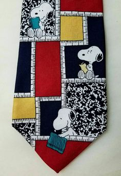 Check out this item in my Etsy shop https://www.etsy.com/listing/459974860/vintage-peanuts-teachers-pet-mens-silk