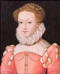 Mary Stuart (1542-87) (oil on panel)