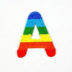 A Character Letter Alphabet Rainbow Appliques Hat Cap Polo Backpack Clothing Jacket Shirt DIY Embroidered Iron On / Sew On Patch    Price: $7.99    . Free Shipping Check Price >> http://www.amazon.com/Character-Alphabet-Appliques-Backpack-Embroidered/dp/B00B6L4JFE