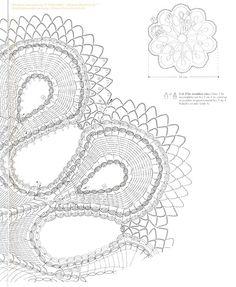 Салфетка крючком ... от Crochet Creations (Франция).. Обсуждение на LiveInternet - Российский Сервис Онлайн-Дневников