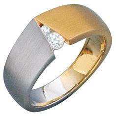 JOBO Damen-Ring 585 Gold Gelbgold Weißgold kombiniert mattiert 2 Diamant-Brillanten Größe 60 Jobo http://www.amazon.de/dp/B00E8D47FO/?m=AMWB9IWQTFGZU
