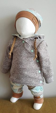Nähidee Inspiration Baby Jacket Jackets Sew Buttons Button Lute at an angle, . : Sewing inspiration baby jacket jackets sewing buttons button-downs diagonally, ribbon tapes, hood, push button snaps Diy Clothes Bleach, Clothes Dye, Doll Clothes, Baby Sewing Projects, Sewing For Kids, Fashion Kids, Baby Boy Outfits, Kids Outfits, Baby F