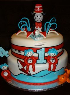 Cat in the hat - by Nissa @ CakesDecor.com - cake decorating website