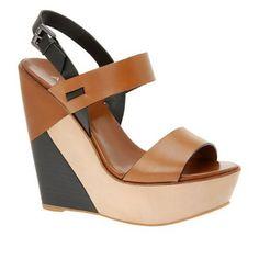 ALDO Blyze - Women Wedge Sandals - Cognac