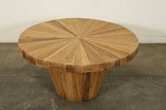 View this item and discover similar for sale at - A multicolor round coffee table made of red and white oakwood. Oak Coffee Table, Cocktail Tables, Table Furniture, Venice, Antiques, Modern, Collection, Home Decor, Lounge Chairs