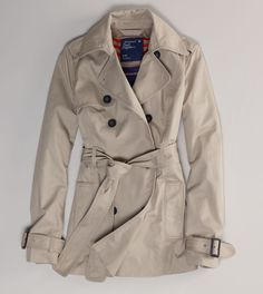 AE Double-Breasted Trench $79.50
