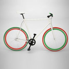 {Bike Medium White, Green And Red now featured on Fab.}