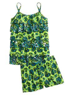 Cheetah hearts give so much personality to this cami and shorts pajamas set