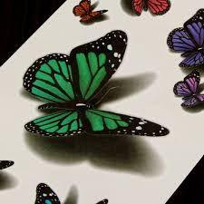 Bilderesultat for 3D butterfly tattoo                                                                                                                                                      More