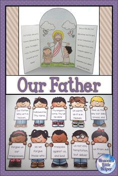 Catholic Religion Our Father, The Lord's Prayer Catholic Religious Education, Catholic Religion, Catholic Kids, Catholic Prayers, Teaching Religion, Catholic School, Kids Church Lessons, Kids Sunday School Lessons, Sunday School Activities