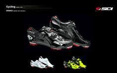 #Sidi#Pro Cycling Shoes #MTB #Drako Carbon srs Vernice   Color: Black/Black, White/White & Yellow/Black