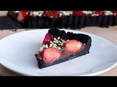 No Bake Strawberry Chocolate Tart Recipe - YouTube