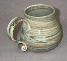 Original Large Hand Thrown Stoneware Coffee Mug