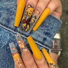 Disney Acrylic Nails, Bling Acrylic Nails, Acrylic Nails Coffin Short, Best Acrylic Nails, Art Nails, Edgy Nails, Dope Nails, Swag Nails, Grunge Nails