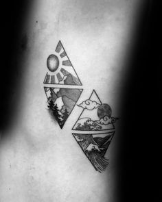 Four Elements Tattoo, 4 Elements, Element Tattoo, Black Tattoos, Small Tattoos, Tattoos For Guys, Group Tattoos, Life Tattoos, Ocean Tattoos