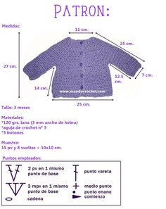 Simple baby crochet cardigan or sweater Patron saquito o camperita simple para bebe a crochet o ganchillo - Mundo Crochet, Discover thousands of imagIdeas que mejoran tu vidaThis Pin was discovered by Ayh Diy Crochet Cardigan, Crochet Baby Sweater Pattern, Crochet Baby Sweaters, Baby Sweater Patterns, Knitted Baby Cardigan, Crochet Baby Clothes, Baby Knitting Patterns, Knit Crochet, Crochet Pouch