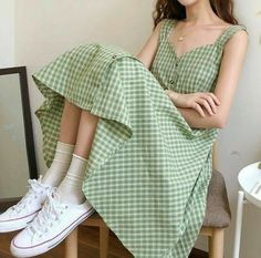 Korean Dress, Korean Outfits, Mode Outfits, Girl Outfits, Casual Outfits, Fashion Outfits, Fashion Skirts, Long Skirt Outfits, Urban Style Outfits