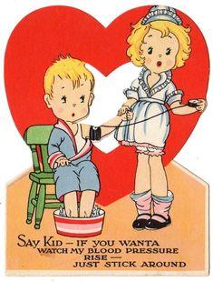 Image result for playing cards vintage valentine card
