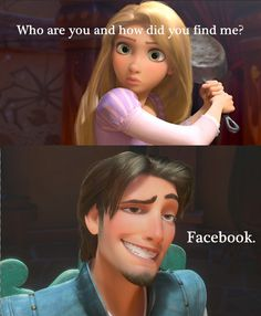 Even #Disney characters are on #Facebook! #Tangled