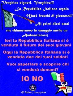 Manifesto Difendiamo i Marò   ITALIA REALE - Stella e Corona