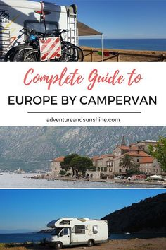 The Complete Guide to Travel in Europe by Campervan including where to stay, where to shop, essential gear and budgeting plus much more! European Road Trip, Road Trip Europe, European Travel, Motorhome Living, Motorhome Travels, Motorhome Fun, Europe Destinations, Europe Travel Tips, Rv Travel
