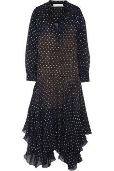 Stella McCartney|Marian silk-blend fil coupé maxi dress|NET-A-PORTER.COM