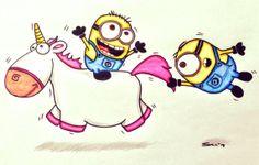 how to draw minions unicorn | Share