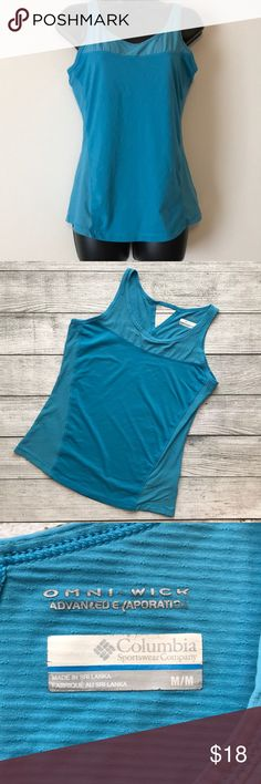 Columbia blue workout tee OMNI WICK advance evaporation  Medium. Columbia Tops Muscle Tees