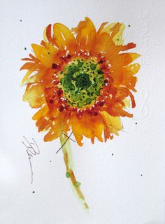 sunflower art watercolor - Google Search