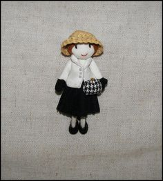 Dior Brooch Doll pin Haute Couture Fabric Pin Felt Hat  Purse Dior Leather Shoes Dior Inspired Suit  $46.47