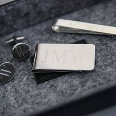 HeartStrings Engraved Monogram Money Clip by HeyYallandCo on Etsy