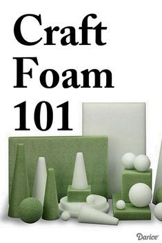 A comparison of different types of foam for crafting.  Learn what types of foam to use for what projects.
