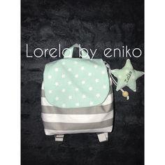 """Kids toddler backpack, stars backpack, stripes backpack, boys backpack L O R E L A by Enikő (@lorelabyeniko) Instagram-hozzászólása: """"Zalán anyukájának kérésére készült :) #nofilter #backpack #gyerekdivat #handmade…"""""""