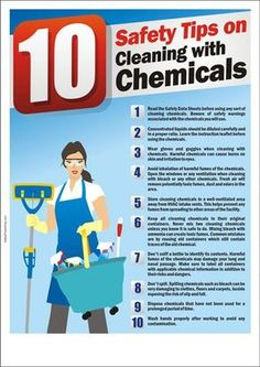 safety tips on cleaning with chemicals