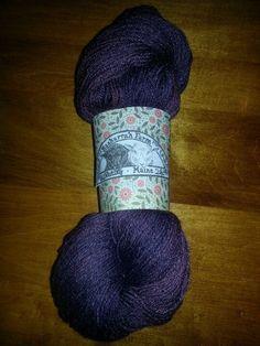 BaaHurrah Farm  Hand Dyed Wool / Silk Plumbunny by BaaHurrahFarms, $20.00