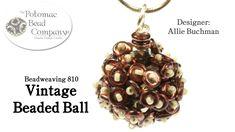 Seed bead jewelry Make Vintage Beaded Balls (Pendants/Earrings/Beads) ~ Seed Bead Tutorials Discovred by : Linda Linebaugh Free Beading Tutorials, Beading Patterns Free, Jewelry Making Tutorials, Jewelry Patterns, Seed Bead Jewelry, Beaded Jewelry, Beaded Bead, Nice Jewelry, Seed Bead Projects