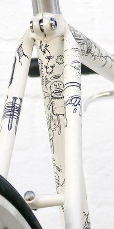 hmm.. bicycle tattoos?