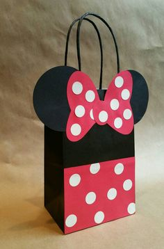 Minnie mouse inspired party favor bagsset of 12 by FifteenSixteen